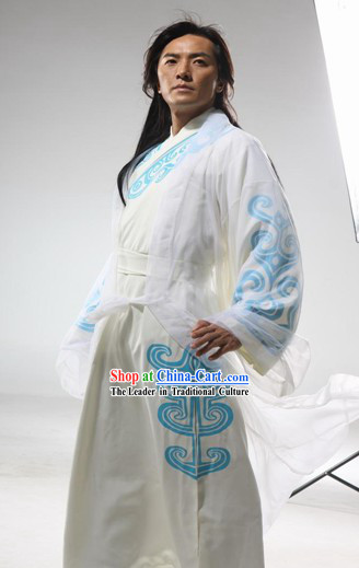 Ancient Chinese Kung Fu Master Hero Dress Full Set