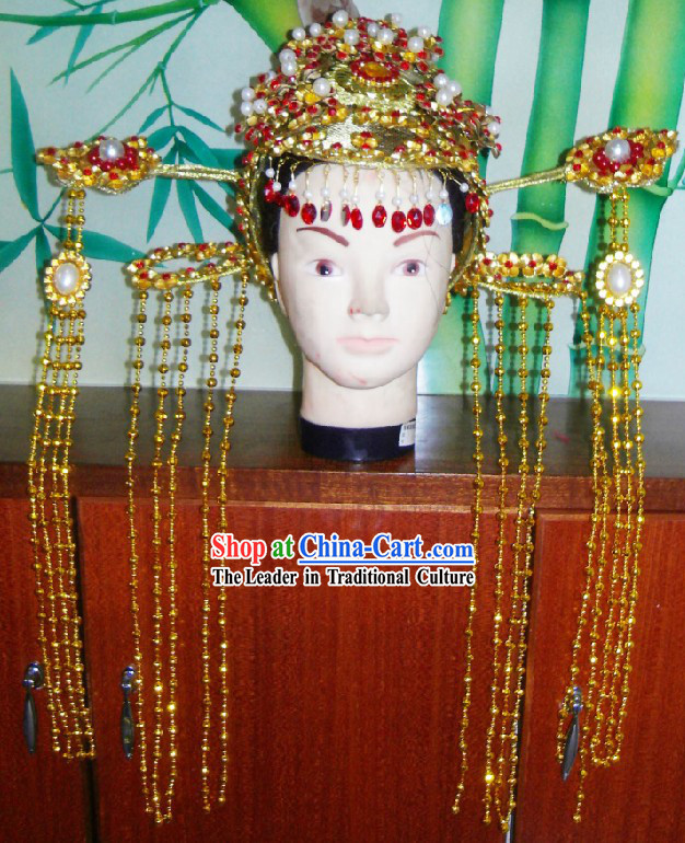 Chinese Traditional Bride Wedding Hat