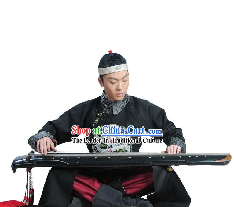 Qing Dynasty Prince Clothing and Hat Complete Set