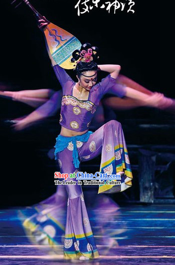 Chinese Ancient Dunhuang Fei Tian Flying Fairy Dance Costume