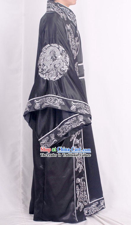 Stunning Embroidered Dragon Han Chinese Clothing for Men