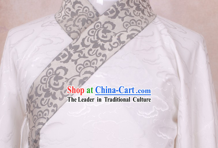 Ancient Chinese White Cloud Han Fu Dress for Men