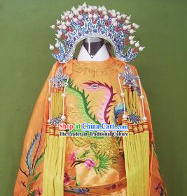 Ancient Chinese Opera Empress Costumes and Phoenix Crown for Kids