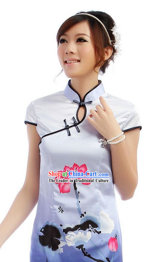 Chinese Classic Short Color Transition Qipao