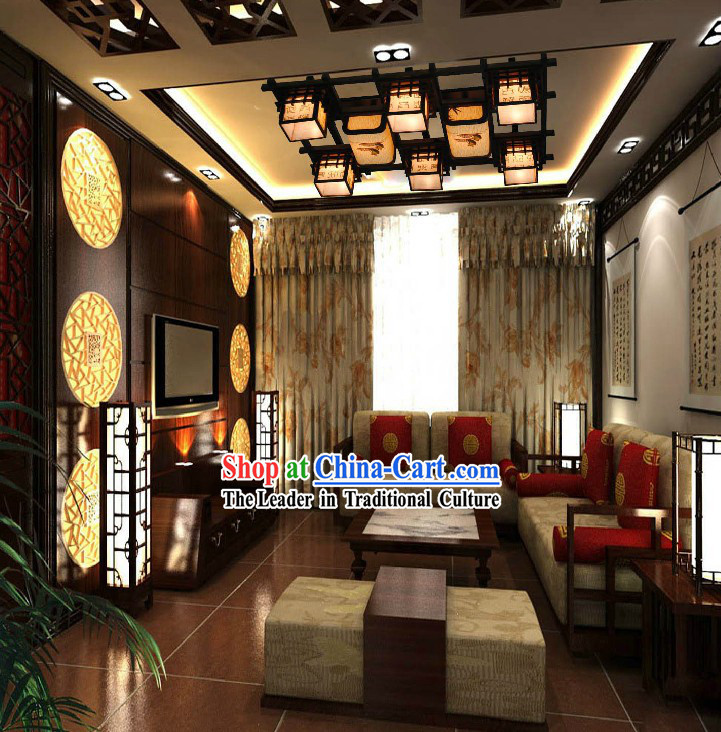 Large Traditional Chinese Center Ceiling Lantern