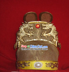 Chinese Ming Dynasty Emperor Dragon Crown Hat