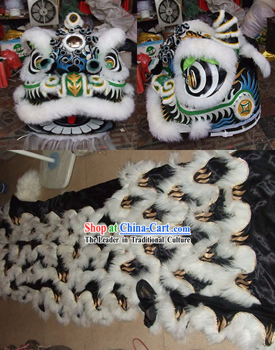 Supreme Tiger Stripe Long Wool Lion Dance Costume Complete Set
