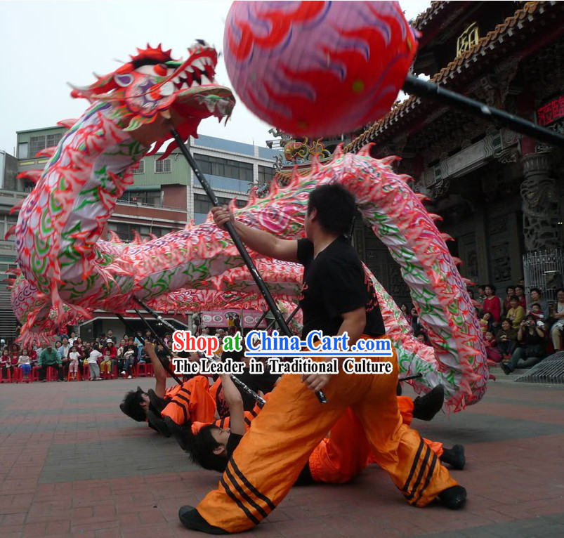 Traditional Luminous Dragon Dancing Costume Complete Set
