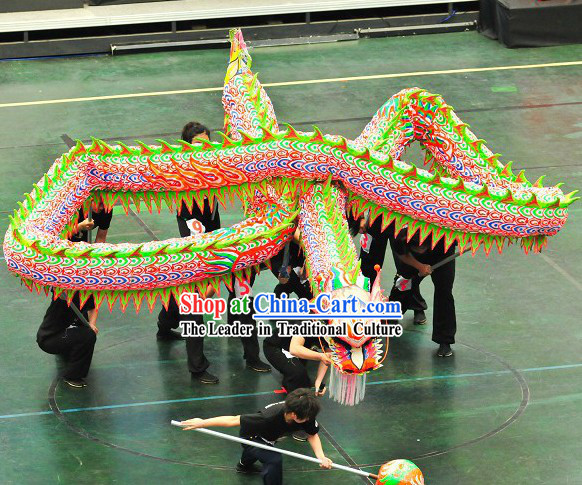 Happy Festival Celebration Luminous Dragon Dance Costume Complete Set