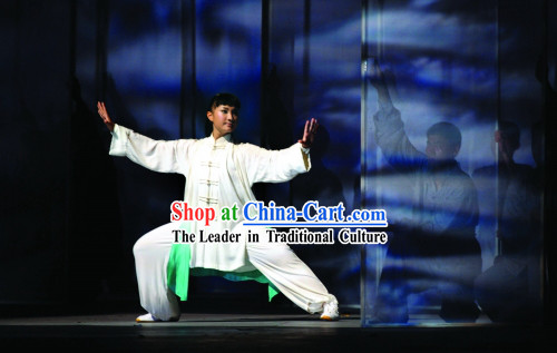Beijing Olympic Games Opening Ceremony Tai Chi Silk Clothes Complete Set