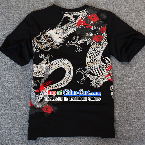 Traditional Chinese Dragon Dancer Cotton T-shirt