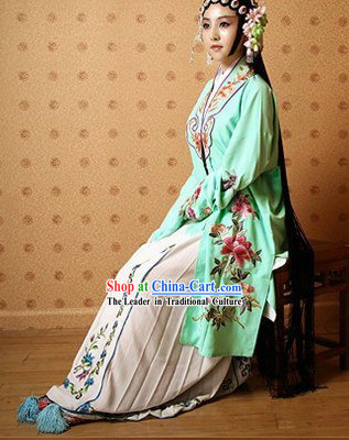 Traditional Chinese Opera Stage Performance Costumes Complete Set
