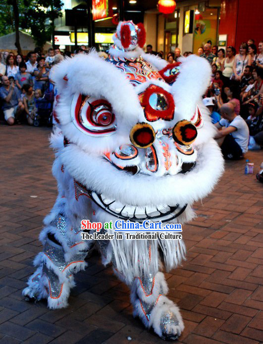 Competition and Parade Lion Head and Body Dance Costumes Complete Set