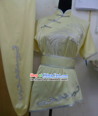 Traditional Chinese Short Sleeve Silk Kung Fu Suit