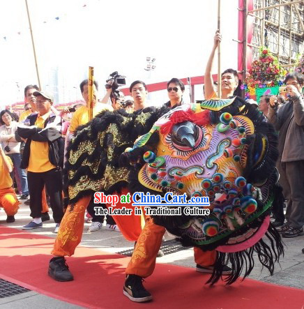Ancient Style FUT SAN Southern Lion Dance Costumes Complete Set
