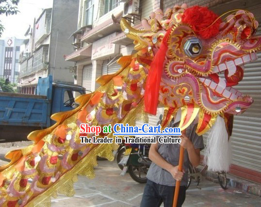 Golden Beijing Olympic Games Dragon Dance Costume Complete Set