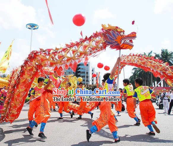 Lucky Opening Performance Chinese Net Dragon Dance Costumes Complete Set