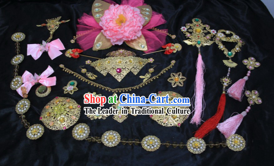 Ancient Chinese Princess Hair Accessories and Earrings Set