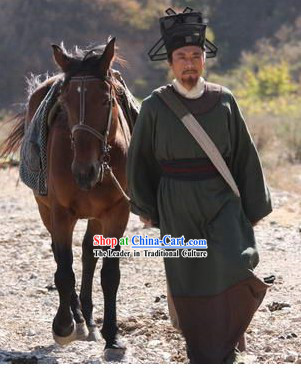 Ancient Chinese Song Dynasty Government Official Costume and Hat for Men