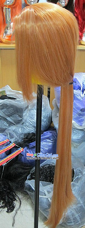 Ancient Chinese Handmade Cosplay Long Wig for Men