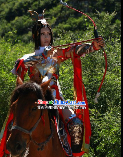 Ancient Chinese SD Genereal Armor Costumes Complete Set