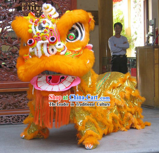 Spring Festival Big Celebration FUT SAN Lion Dance Costumes Complete Set