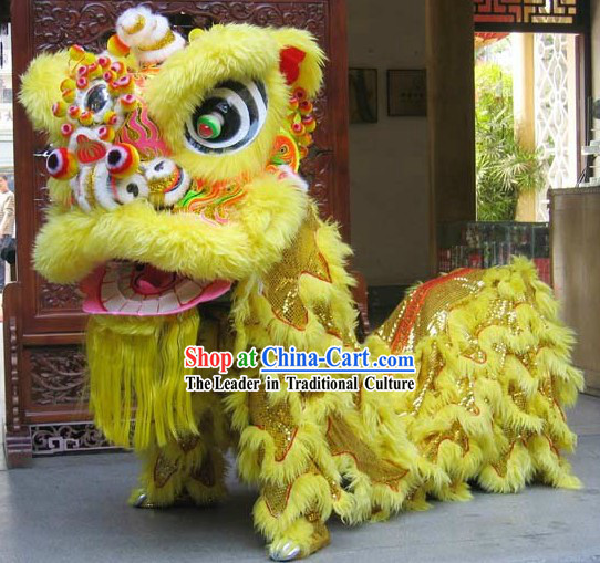 Competition and Celebration Chinese FUT SAN Lion Dance Costumes Complete Set