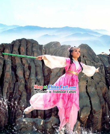 Chinese Heroin Huang Rong Kung Fu Outfit for Women