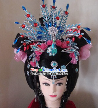 Traditional Chinese Dramatic Empress Wig and Hair Accessories Complete Set