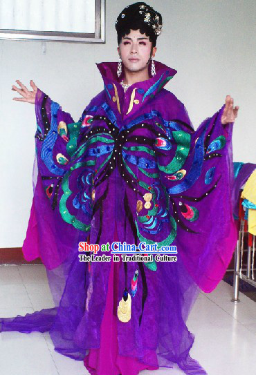 Chinese Stage Performance Dramatic Butterfly Dance Costumes Complete Set