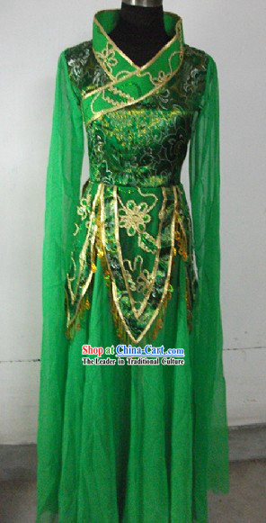 Green Chinese Classical Dancing Costume for Women