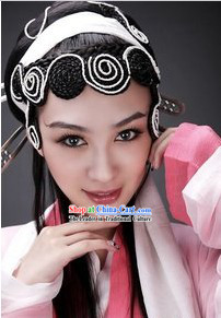 Chinese Classical White Snake Fairy Wig and Headpiece