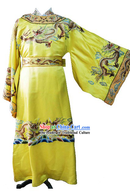 Ancient Chinese Qing Dynasty Emperor Dragon Clothing