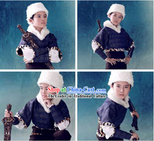 Ancient Chinese Swordsman Costume Complete Set for Children