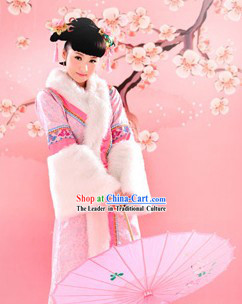 Ancient Chinese Qing Dynasty Princess Costume Complete Set