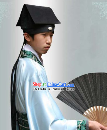 Ancient Chinese Male Fang Jin Fabric Hat