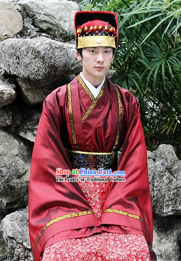 Ancient Chinese Tang Dynasty Palace Young Official Costumes and Hat