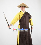 Ancient Chinese Knight Costume and Hat for Men