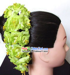 Traditional Thailand Green Flower Hair Accessories