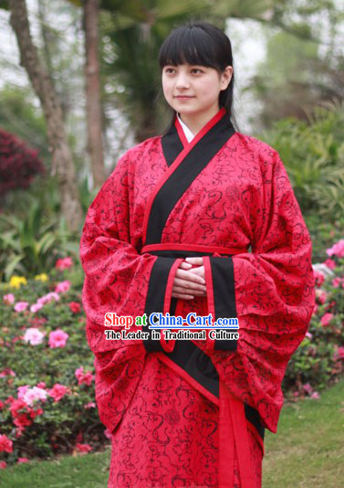 Ancient Chinese Quju Hanfu Clothing Complete Set for Women
