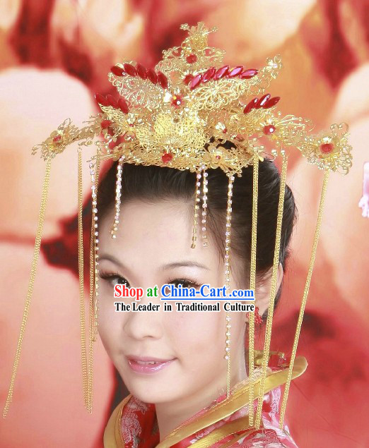 Chinese Classical Wedding Phoenix Hair Accessories for Bride
