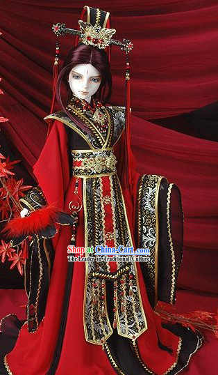 Chinese Prince Wedding Dress and Hat Complete Sets for Bridegroom