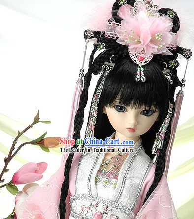 Ancient Chinese Romantic Princess Long Wig and Hair Accessories