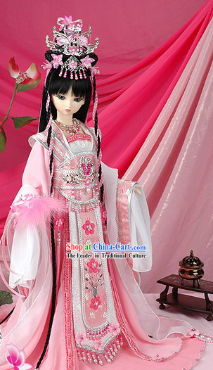 Ancient Chinese Palace Beauty Long Wig and Hair Accessories