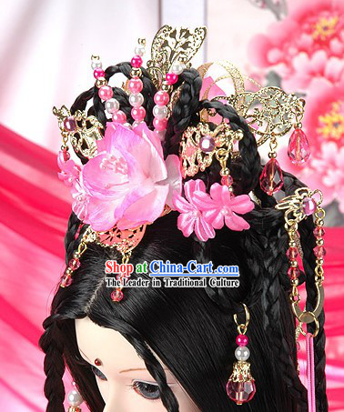 Ancient Palace Princess Hair Accessoreis and Wig Complete Set