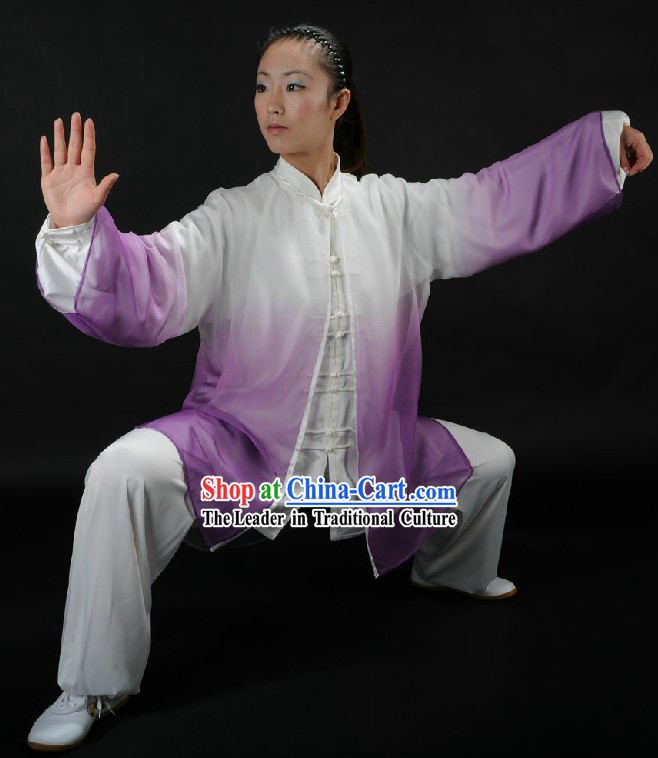 Color Transition Tai Chi Competition Clothes for Men or Women