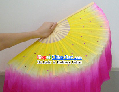 Chinese Silk Double Sided Dance Fan