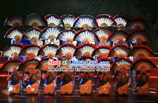 Two Layers Silk Dance Fan