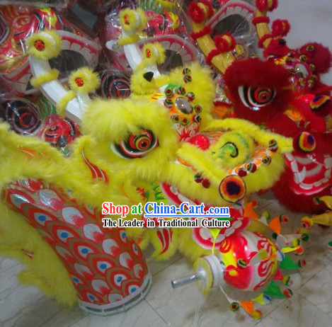 Supreme Long Wool Happy Festival Celebrations Dragon Dancing Costumes Complete Set