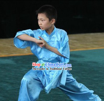 Traditional Chinese Silk Tai Chi Clothes for Children